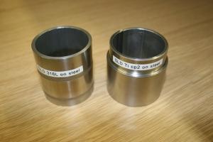 316 L coating on 50 mm mild steel tube