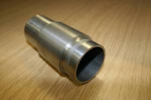 Thick titanium coating on 51mm diameter mild steel tube